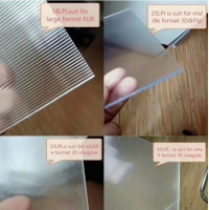 Quality China Factory 3D Lens Sheet 120cmx240cm 3mm18lpi Lenticular board for 3D Lenticular Print Effect on big size 3D poster for sale