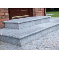 Quality Light Grey White Granite Slab Steps , Granite Stone Slabs For Outdoor Steps for sale