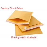 Quality Two Sealing Side Kraft Bubble Envelopes , Custom Printed Bubble Mailers 8*9 Inch for sale