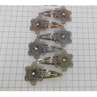 China 5cm snap clip with a metal flower in antique colors on sale