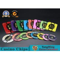 Buy Square Crystal Acrylic Poker Chips With Custom Logo / Super Touch Texture Poker Plaque at wholesale prices