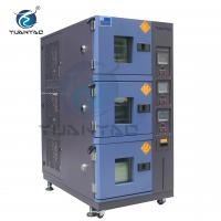 Quality Custom 3 Layer Temperature Humidity Environmental Test Chamber With LCD Touch Screen Controller for sale