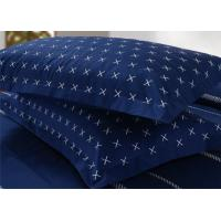 Buy 4Pcs Blue Bedding Sets , 100% Cotton Diamond Embroidered Navy Simple Bedding Sets at wholesale prices