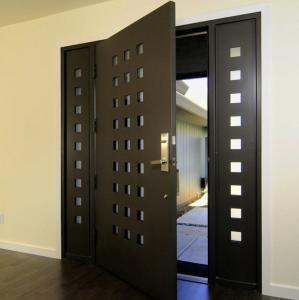 Quality USA Villa Main Entry Door Modern Design Pivot Wooden Doors for sale