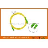Quality HUBER + SUHNER E2000 / APC SC Fiber Optic Patch Cable 3 Meters / Fiber Optic Jumpers for sale