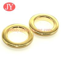 Quality Glossy gold 21x12x4.5mm Nickle free High quality brass metal shoe eyelets and grommet for clothing for sale