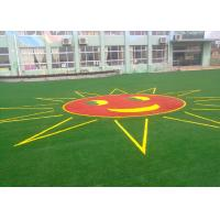 Quality Safe And Soft Colorful Landscaping Artificial Grass For Kindergarten 25mm for sale