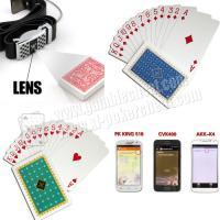 Quality Custom Plastic Poker Marked Cards / Marking Cards In Poker Professional Playing Cards for sale
