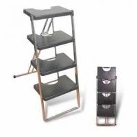 Quality Folding Ladder with Three or Four Steps, Made of ABS and Metal for sale