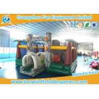 Quality Jungle inflatable bouncer and funland for kids ,  inflatable amusement park with bouncer slide for sale
