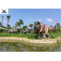 Quality Lifesize Giant Colorful T Rex Lawn OrnamentFor Game Center 110 V / 220A for sale