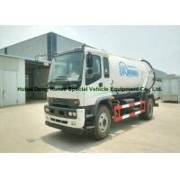 Quality ISUZU Septic Vacuum Trucks / Sewer Suction Truck Euro 5 Engine 205HP for sale