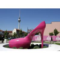 Buy cheap Pink Heels Stainless Steel Sculpture Art Painted Corrosion Resistant Urban Sculpture from wholesalers