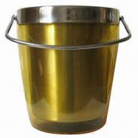 Quality Double Wall Ice Bucket with Handle for sale