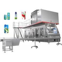 Buy cheap Automatic Beverage Packaging Machine For Fresh Milk / Juice Carton Filling from wholesalers