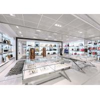 Buy Modern Simple Looks Handbag Shop Display Shelving With LED Strip Lights Decoration at wholesale prices