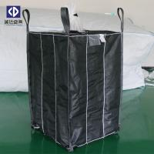 China 1.5 Ton PP Woven Jumbo Bags, Bulk Plastic Bags Black Color 102x102x107cm Size on sale