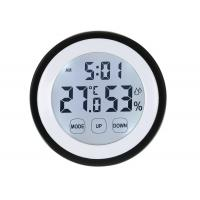China Digital LCD Thermometer Hygrometer Electronic Temperature Humidity Meter Weather Station Indoor Tester Time Clock on sale