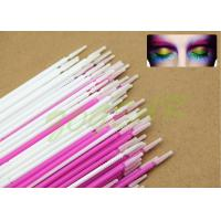 Buy cheap Plating eyelash cleaner colors Micro Applicator white mauve imported soft fiber from wholesalers