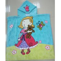 Quality Princess Girls Hooded Poncho Towel Eco - Friendly Reactive Printed for sale