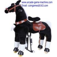 Quality Black Horse Mechanical Animal Kiddie Rides Toy For Sale for sale