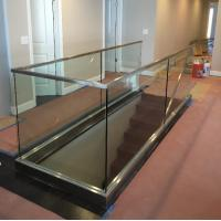 Interior Glass Railing Systems With Toughened Glass Panel And U Channel Base For Sale 91183335