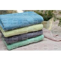 Quality Solid Terry Towel With Satin Border for sale