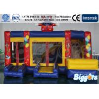 Quality Clown Commercial Inflatable Bouncer with Slide , Outdoor Jumping Castle Combo for sale