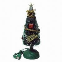 Quality Christmas Gift/Gleamy Christmas Tree, Powered by 5V Voltage and Sized 254 x 80 x 80mm for sale