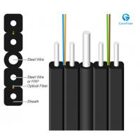 Buy cheap 1 Fiber Singlemode 9/125 OS2, Metal Strength Member, LSZH Self-supporting FTTH Drop Cable GJYXCH from wholesalers
