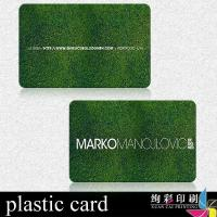 China Embossed Printed Plastic Cards With Bar Code , Magnetic Stripe Card on sale