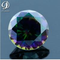 Rainbow Plating Colorful Gems Mystic Cubic Zirconia for sale