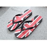 Quality Camouflage Painted Patterns Fashion Flip Flops Mens Beach Slippers PVC Upper for sale
