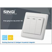 Quality italian new design wall switch and socket  3gang 2way  Generous elegant wall switch for sale
