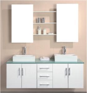 Quality Elegant Design High Gloss White Color MDF Bathroom Vanity  (BL-1500) for sale