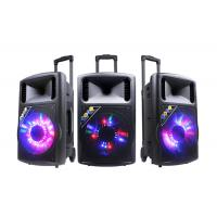 Quality Wireless Disco Light Rechargeable Trolley Speaker For Party / Bluetooth Dj Speakers for sale