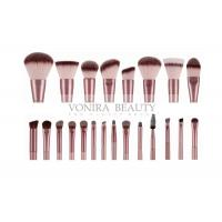 Quality Champagne Private Label Makeup Brushes 22 Pieces , Synthetic Makeup Brushes for sale