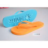 China Nude engraved sole beach thong, flip flops on sale