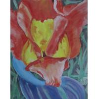Quality modern flower painting rose painting for sale