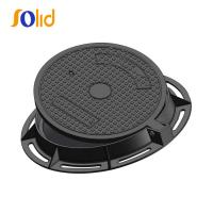 Quality EN124 E600 600 800mm Bitumen Or Epoxy Coating Heavy Duty Cast Iron Manhole Covers for sale
