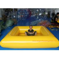 China 0.9 MM Pvc Tarpaulin Blue / Yellow Inflatable Swimming Pools Portable Above Ground on sale