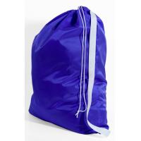 Quality 420D polyster purple laundry bag with adjustable strap for sale