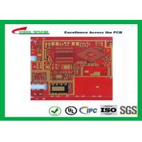 Quality Multilayer Pcb Manufacturing Impandence Control Circuit Board Pcb Layout Red Colour for sale