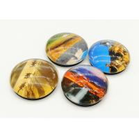 Buy cheap Eco Friendly Round Refrigerator Magnets 40mm / 50mm Exclusive Artwork Design from wholesalers