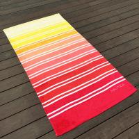 Quality Gradient Multi Color Printed Beach Towels Comfortable Touch Surface for sale