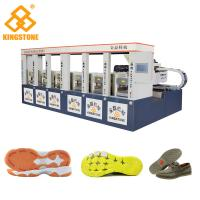 Quality CE SGS 6 Stations Rubber Shoe Sole Making Machine1-2 Color 2 Years Gurantee for sale