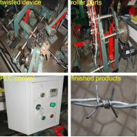 Quality High Quality double twist standard Galvanized Barbed Wire Machine for sale