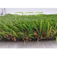 Quality PE Artificial Grass Landscaping / Synthetic Natural Look Garden Carpet for sale