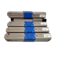 Quality Remanufactured for OKI 44973545/ 44973546/ 44973547/ 44973548 Color Toner Cartridges for sale