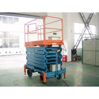 China Elevating Electric Scissor Lift , 10 Meters Extension Moving Scissor Manlift on sale